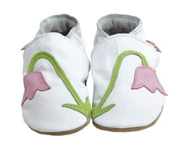 Pantofiori pentru bebelusi din piele, Snowdrop, StarChild UK