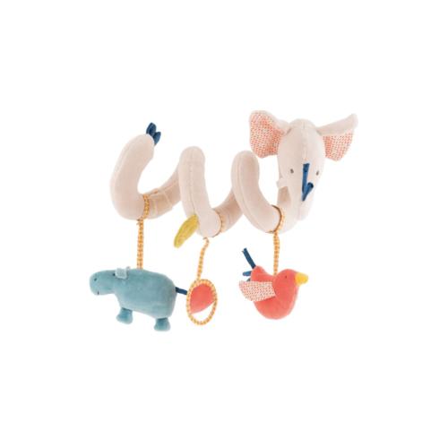 Spirala cu jucarii pentru patut/carucior bebelusi Domnul Elefant