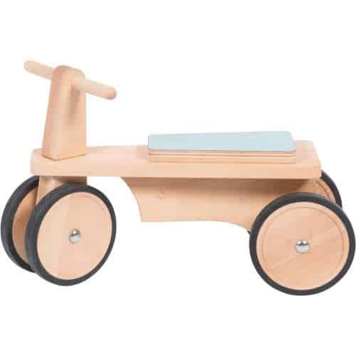 Bicicleta cu patru roti, de lemn fara pedale, Mémoire d'enfant, Moulin Roty