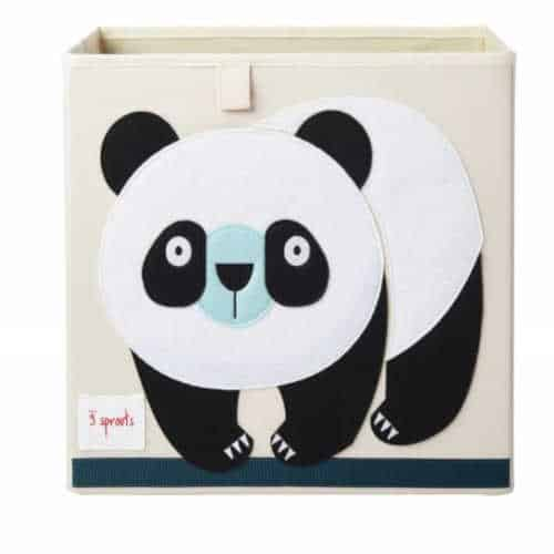 Cutie jucarii copii, Domnul Urs Panda , 33cm x 33cm , 3 Sprouts