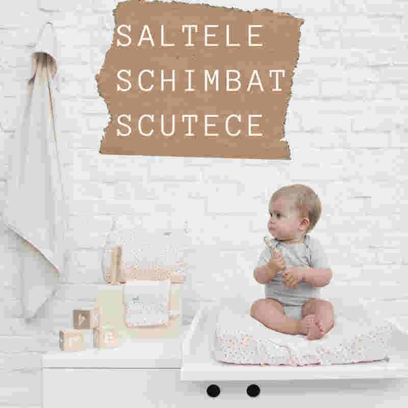 Salte schimbat scutecele bebelusului
