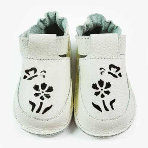 Pantofiori bebe, piele naturala, Daisy