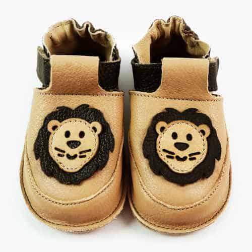 Pantofiori din piele pentru bebelusi, Simba