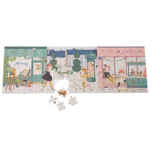 Puzzle 140 de piese, copii 6 ani, Les Parisienns, Moulin Roty